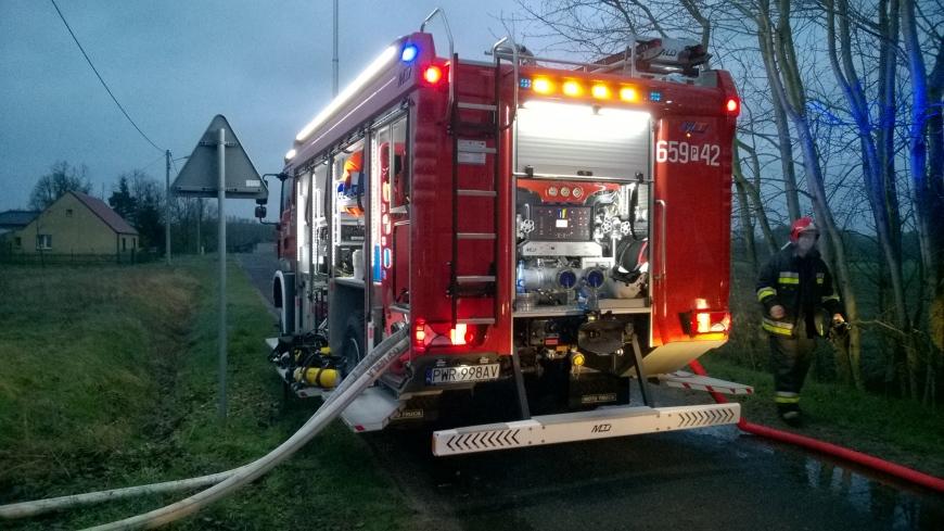 Pożar domu w Barczyźnie